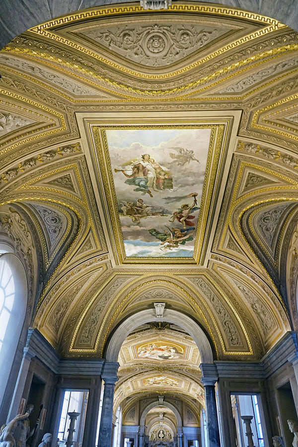 Vatican Photograph - Architectural Artistry Within The Vatican Museum In The Vatican City by Richard Rosenshein