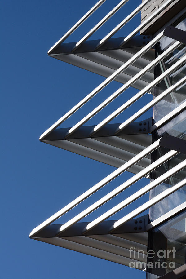 Architecture Photograph - Architectural Detail Of Triangles by Merrimon Crawford