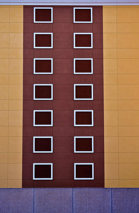 Window Photograph - Architectural Geometry by Frances Hattier