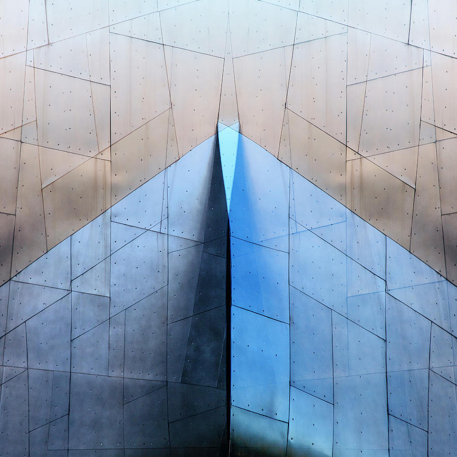 Architecture Photograph - Architectural Reflections 4619L by Carol Leigh