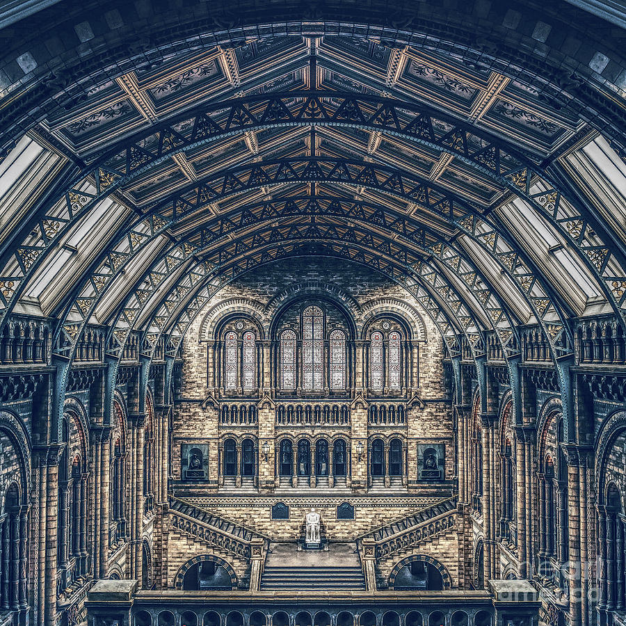 Symmetry Digital Art - Architectural Reflections by Phil Perkins