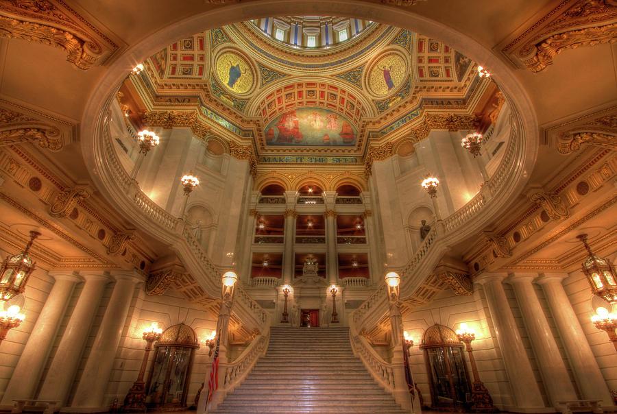 Pennsylvania State Capitol Photograph - Architectural Treasure by Lori Deiter