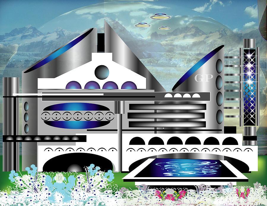 Architecture Digital Art - Architecture 1a by George Pasini