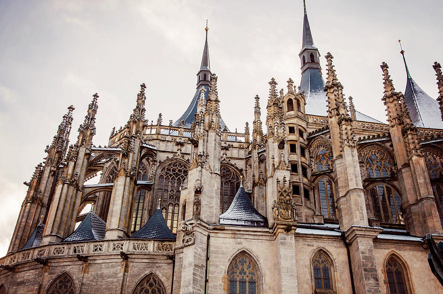 Architecture Details Of Gothic St Barbara Church Kutna Hora