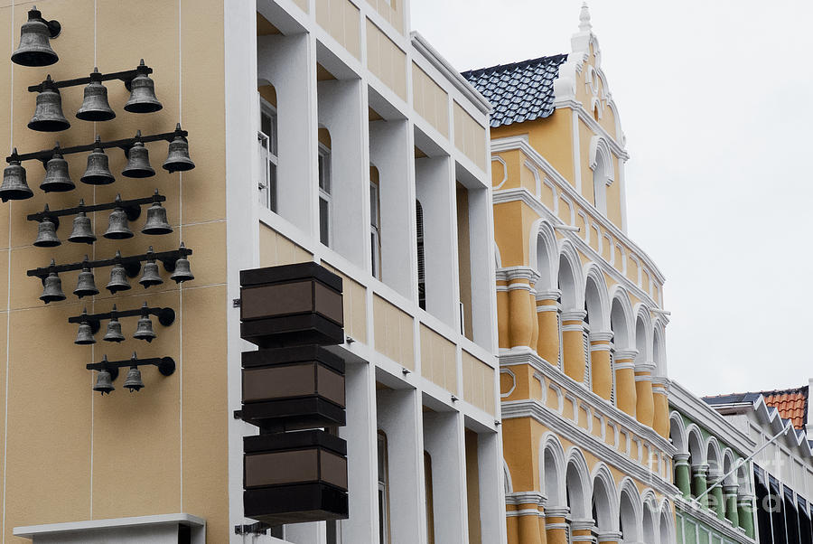 Curacao Photograph - Architecture Details Of The Colonial Houses In Willemstad - Curacao by Dani Prints and Images