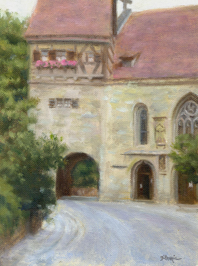 Oil Painting Painting - Archway-germany by Michael Gillespie