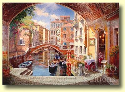 Archway To Venice Painting by Sam Park