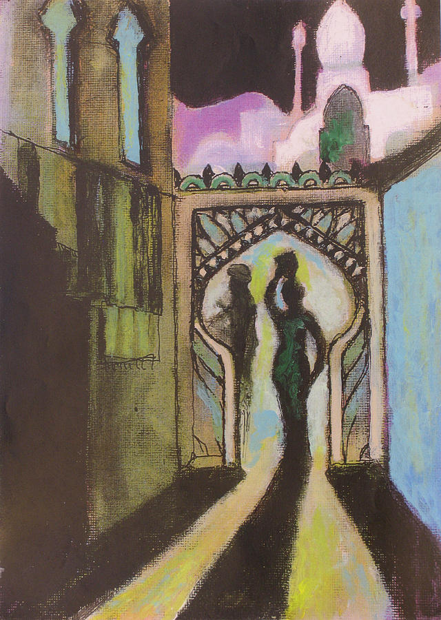 Fantasy Painting - Archway by Walter Clark
