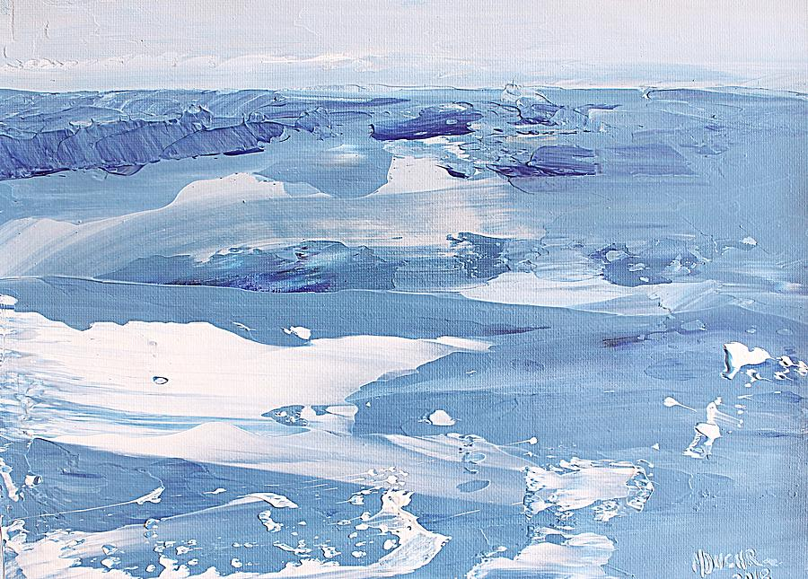 Arctic Painting - Arctic Ocean by Norma Duch