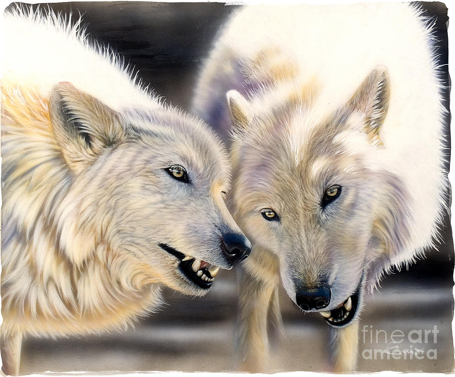 Acrylics Painting - Arctic Pair by Sandi Baker