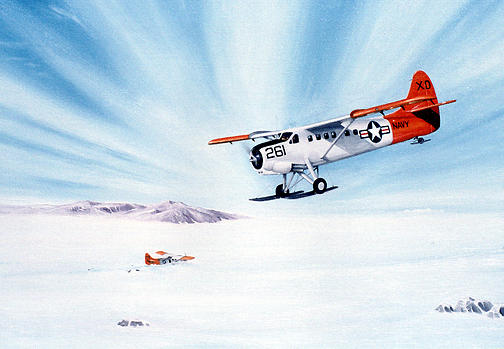 Aviation Painting - Arctic Rescue by Marc Stewart