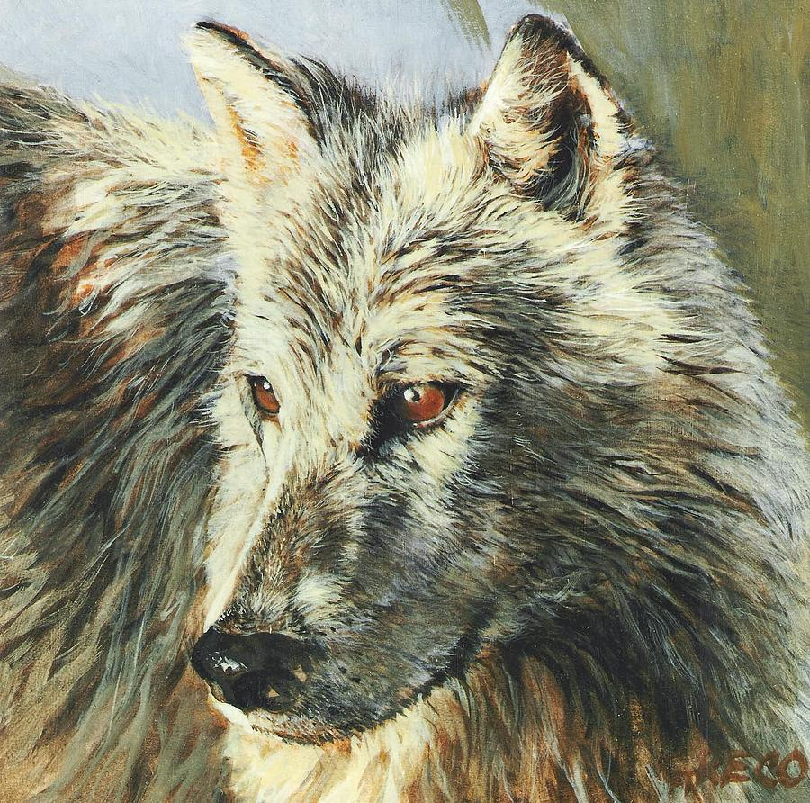 Wolf Painting - Arctic Wolf by Steve Greco