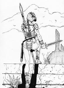 Ardala The Warrior Drawing by Louis Myers
