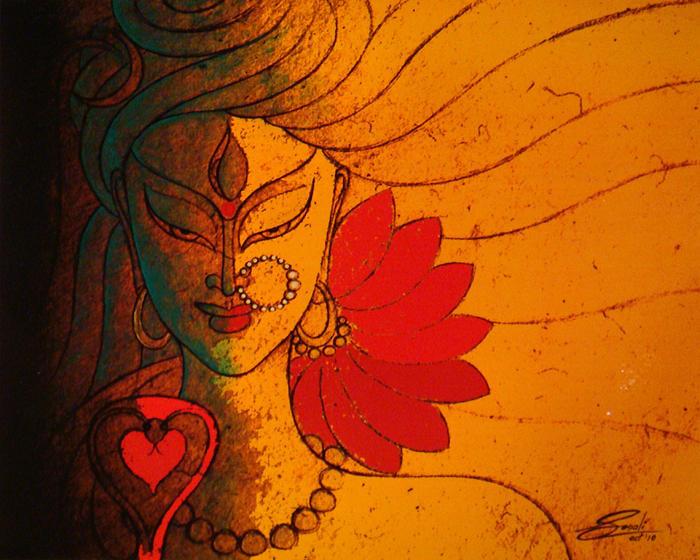 Shiva Painting - Ardhanarishwar by Sonali Chaudhari