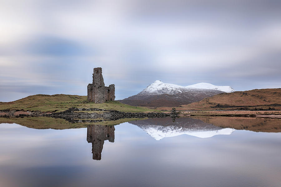 Ardvreck Castle Photograph - Ardvreck Castle Reflection by Grant Glendinning
