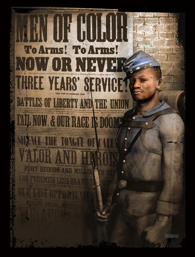 African American Digital Art - Are Free Men Less Brave Than Slaves? by Darryl Crosby