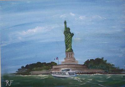 Liberty Painting - Are Liberty Still Stands  by Richard Finnell