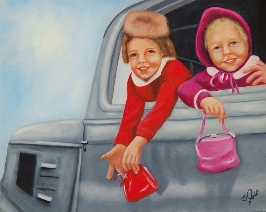 Portraits Painting - Are We There Yet by Joni McPherson