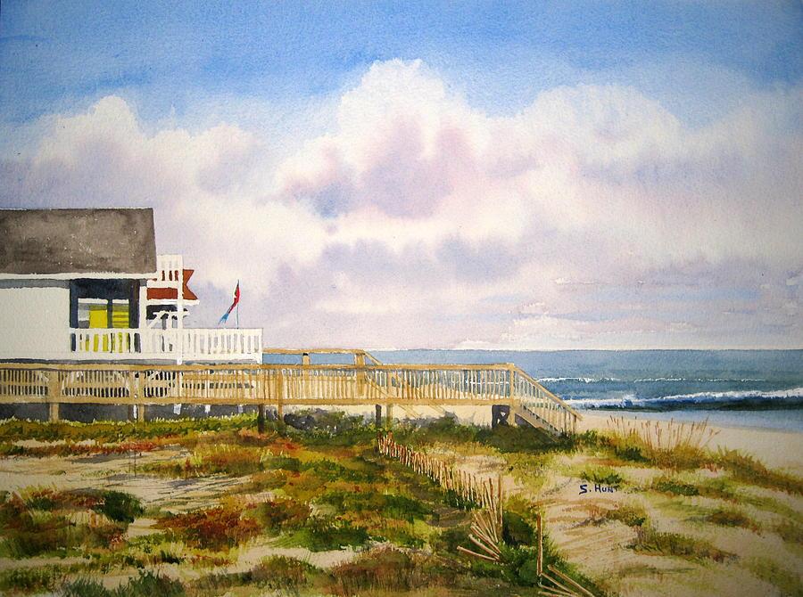 Beach Painting - Are We There Yet by Shirley Braithwaite Hunt