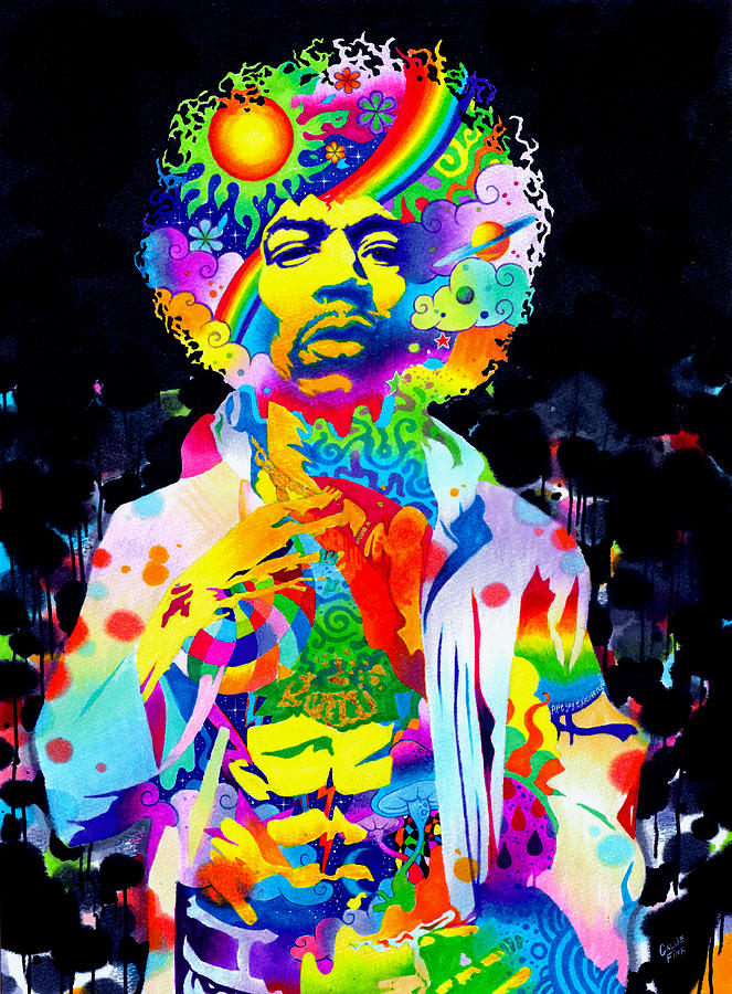 Music Drawing - Are You Experienced? by Callie Fink
