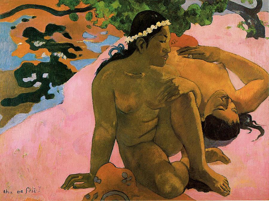 Paul Gauguin Painting - Are You Jealous by Paul Guaguin