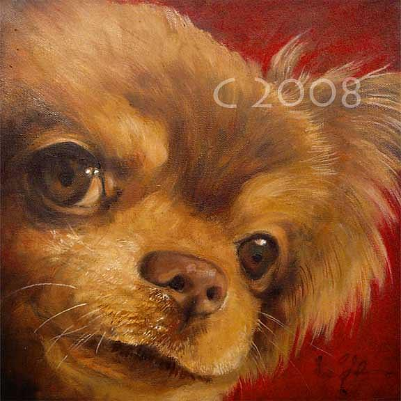 Are You Looking At Me Painting by Lucky Dogs