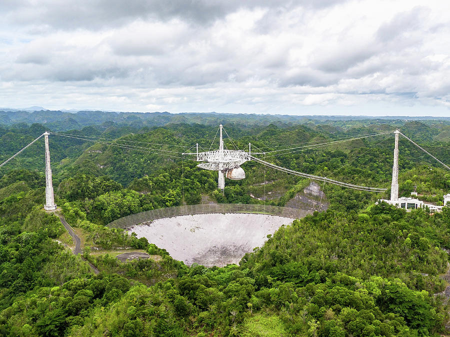Landscape Photograph - Arecibo Observatory by M C Hood