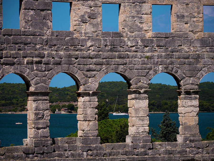 Pula Photograph - Arena Windows by Rae Tucker
