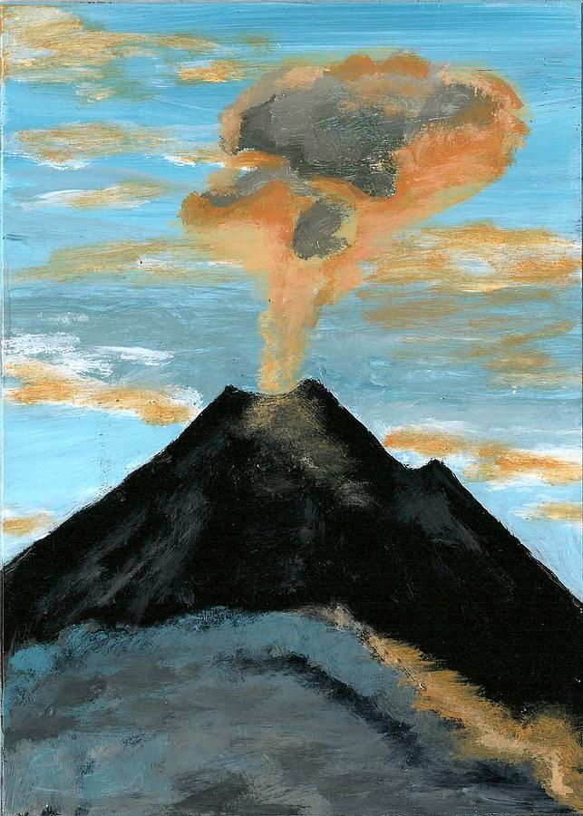 Costa Rica Painting - Arenal Volcan I by Susan Macdonald