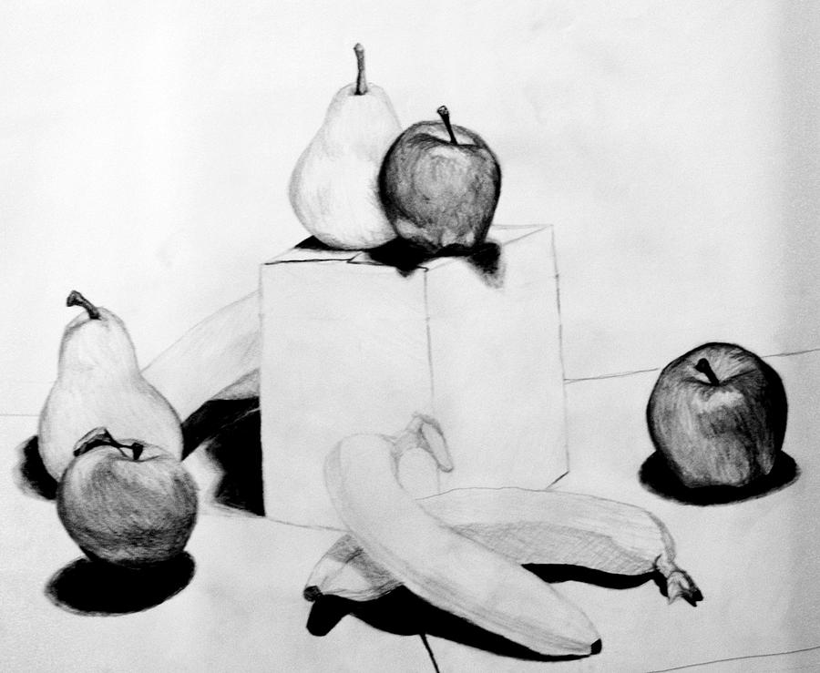 Apple Drawing - Arent You Glad I Didnt Say Banana by Jean Haynes