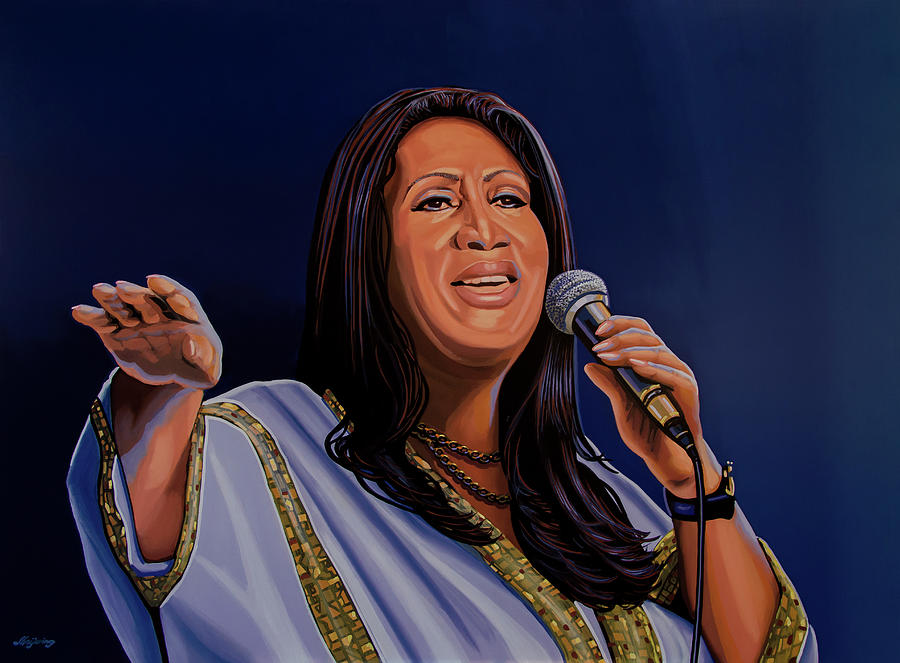 Aretha Franklin Painting - Aretha Franklin Painting by Paul Meijering