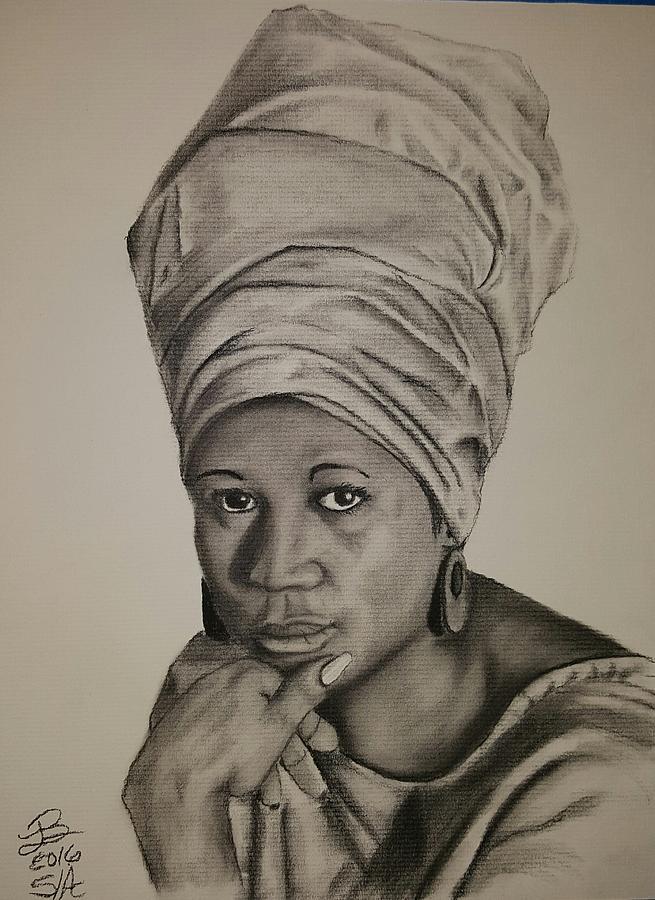 Aretha Franklin Drawing