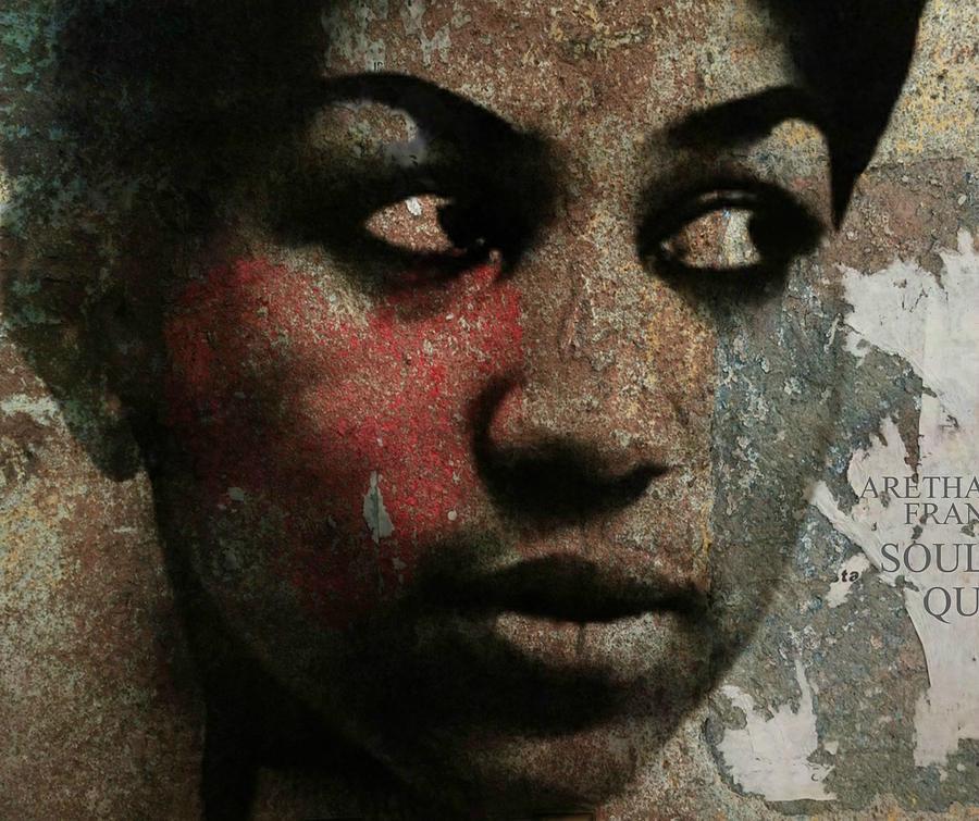 Aretha Franklin Digital Art - Aretha Franklin - Tribute by Paul Lovering
