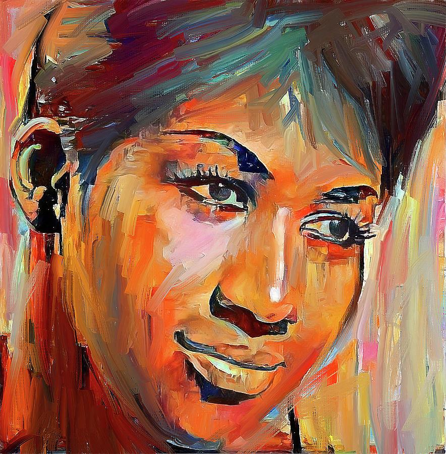 Aretha Digital Art - Aretha Franklin Tribute Portrait 5 by Yury Malkov