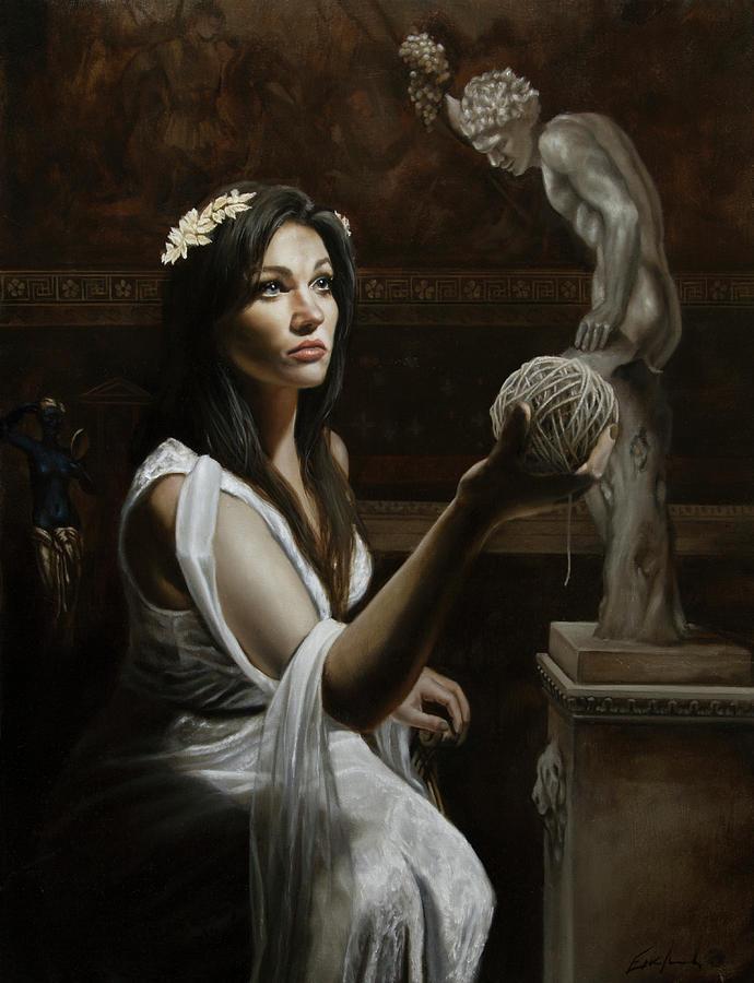 Greek Painting - Ariadne by Eric  Armusik