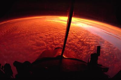 Arial  Inverted  Sunrise Photograph by Barry Penchansky