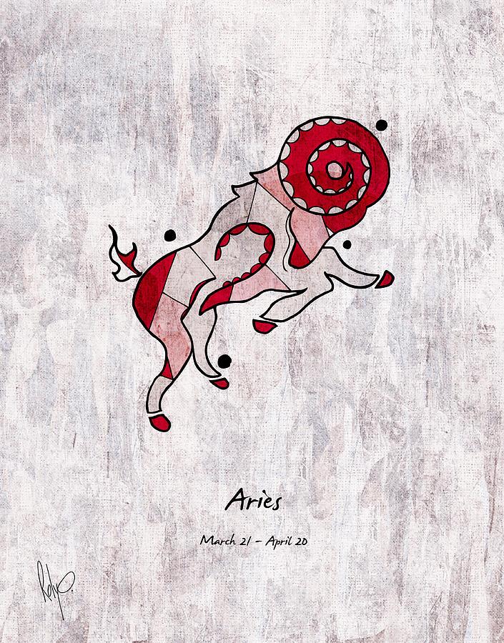 Aries Drawing - Aries Artwork by Roly Orihuela