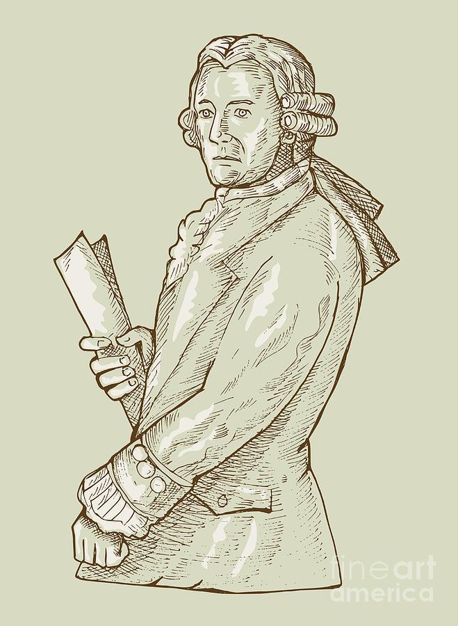 Gentleman Digital Art - Aristocrat Wearing Wig by Aloysius Patrimonio