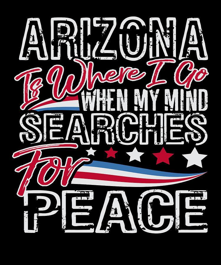 4th Of July Digital Art - Arizona American Patriotic Memorial Day by Passion Loft