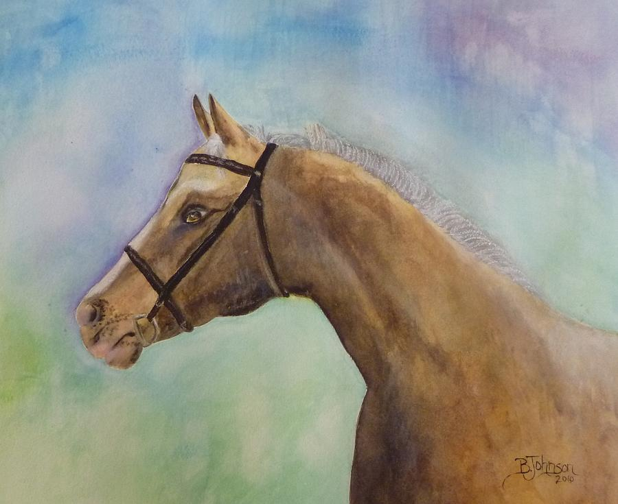 Horse Painting - Arizona by Beverly Johnson