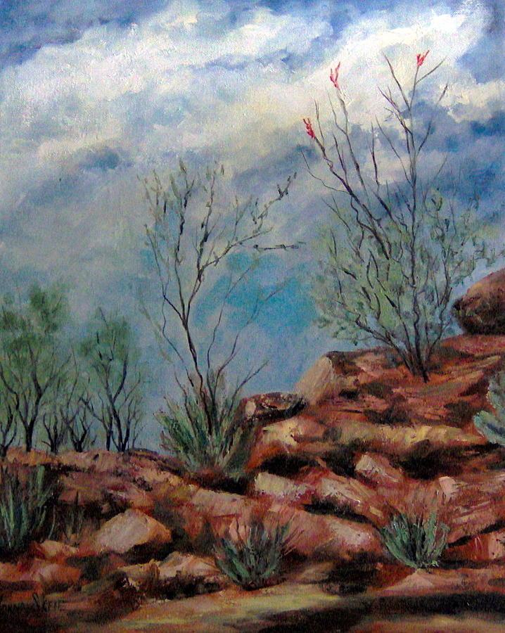 Rocks Painting - Arizona Desert by Lorna Skeie