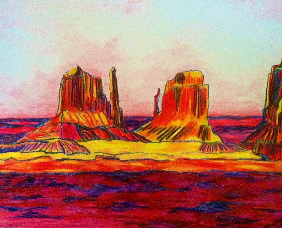 Arizona Desert Drawing