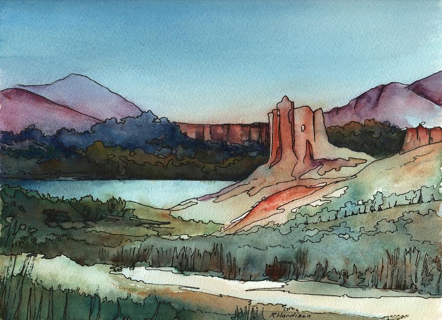 Arizona Painting - Arizona Hills by Robynne Hardison