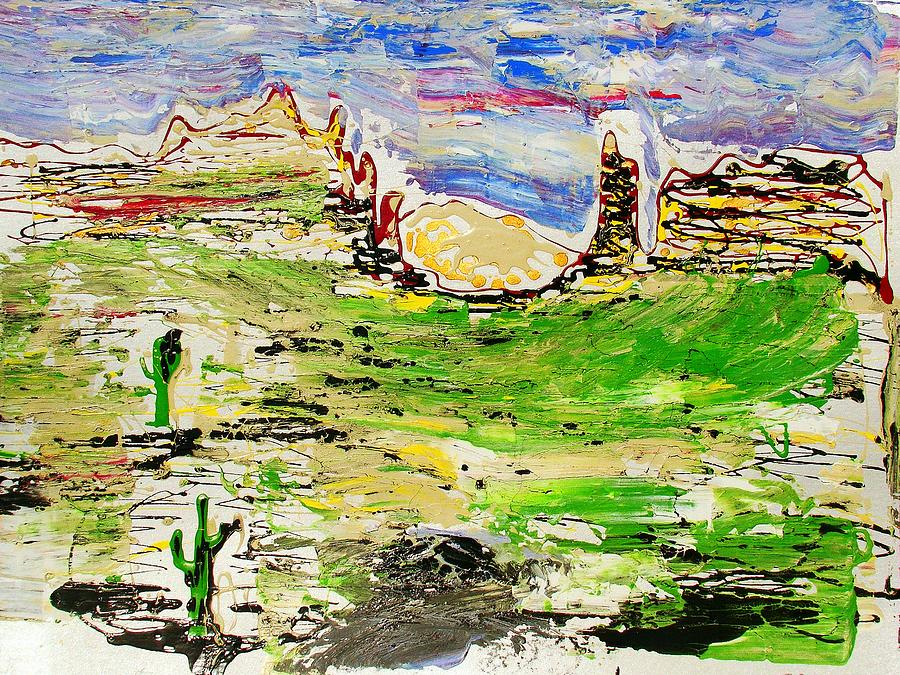 Cactus Painting - Arizona Skies by J R Seymour