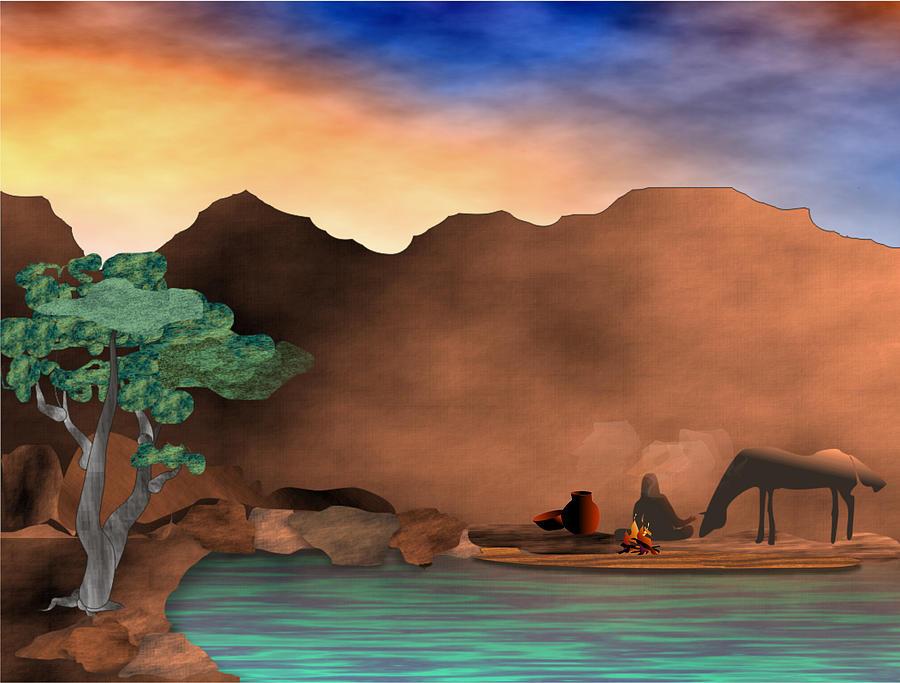 Arizona Digital Art - Arizona Sky by Arline Wagner