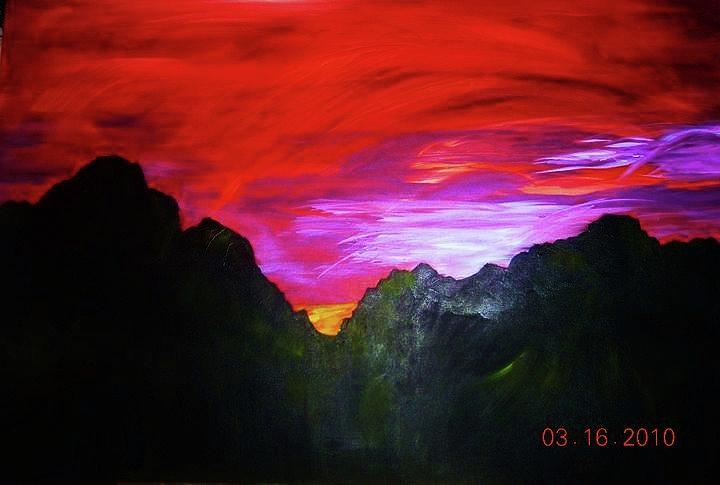 Lanscape Painting - Arizona Skyline by Deborah Gorga