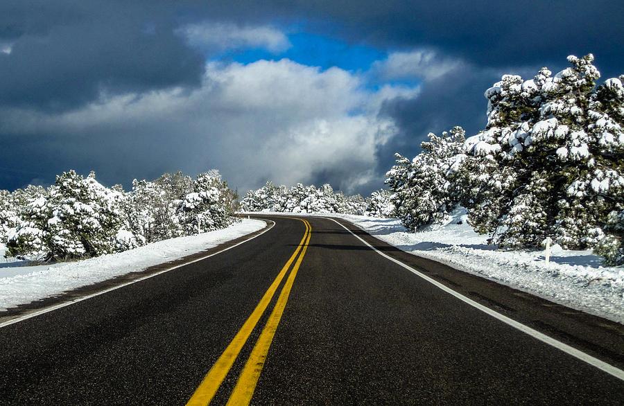 Arizona Snow Road Photograph by Gregory Daley  MPSA