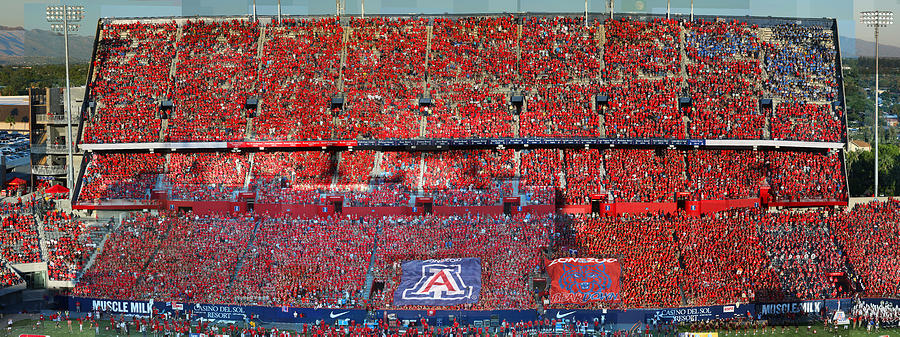 Football Photograph - Arizona Stadium Triptych Part 1 by Stephen Farley