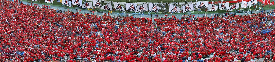 Football Photograph - Arizona Stadium Triptych Part 3 by Stephen Farley