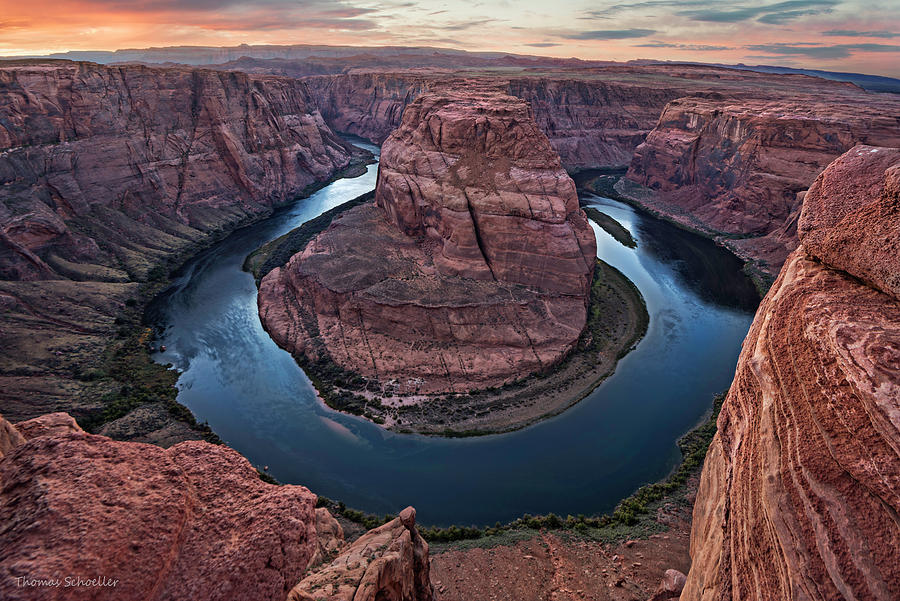 Dusk Light at Horseshoe Bend by Expressive Landscapes Nature Photography